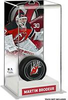 Martin Brodeur Devils Deluxe Tall Hockey Puck Case - Fanatics
