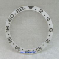 New Carving 38mm Whtte Ceramic Bezel Insert Ring For Parnis 40mm GMT Watch