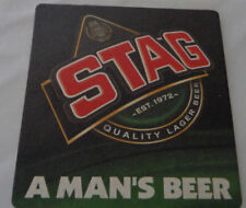 Stag Coaster A Man's Beer mat Drinks Mat Caribbean Lager Trinidad and Tobago