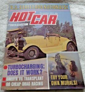 HOT CAR  MAGAZINE NOVEMBER 1977 CRESTA V6 TOYOTA HI-ACE FORDSON  CLASSIC