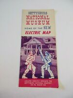 Vintage 1963 Gettysburg National Museum Electric Map Brochure Pamphlet Map~BoxP1