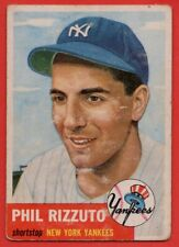 1953 Topps #114 Phil Rizzuto VG Hall of Fame New York Yankees FREE SHIPPING