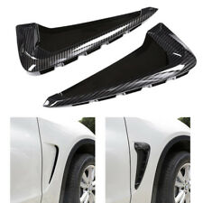 2X Carbon Fiber Side Body Marker Fender Air wing Vent Trim For BMW X5 F15 2014+