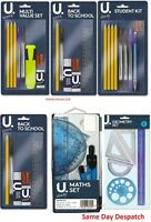 Back to School Multi Value set Stationery Kit Student Maths Set Geometry Set