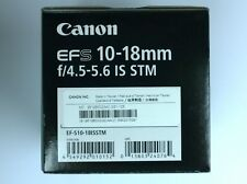 Canon EF-S 10-18mm f/4.5-5.6 IS STM Lens EF-S10-18ISSTM for EOS APS-C DSLR