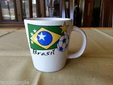 Vintage Brasil World Cup Coffee Mug Football Futbol Fussbowl Soccer Brazil