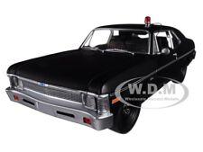 "1971 CHEVROLET NOVA POLICE ""HUNTER"" MATTE BLACK LTD 1/18 DIECAST BY GMP 18903"