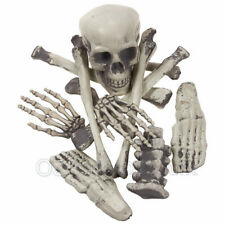 Bag of Bones 12 pcs Skull Skeleton Halloween Party Spooky Scary  Prop Decor