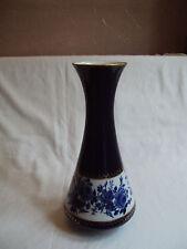 "KPM Royal Porzellan Cobalt Blue Floral 11"" Vase"