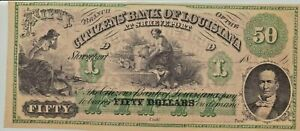 Citizens Bank Of Louisiana at Shreveport Fifty Dollar Banknote