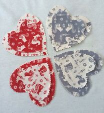 Christmas Hearts Scandinavia Fabric16 Large 16 Smaller Wreath Garlands Craft