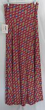Women's LuLaRoe Red Globe Circle Geometric Maxi Skirt In XS NWT