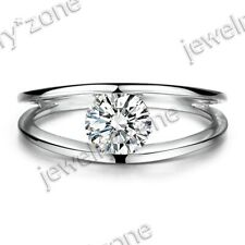 1.5ct Round Cubic Zirconia Prong Solitare Wedding Ladys Ring Sterling Silver 925