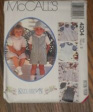 McCall's 4204  Kitty Benton Toddler Jumper Short-All Shirt Hat Pattern Sz 3