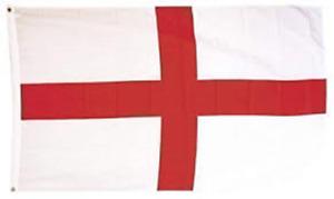 Printed England Flag 5' x 3' metal eyelet  fixing