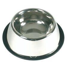 Comedero dispensador para perros  gatos inox antideslizante de 25 cm mascotas