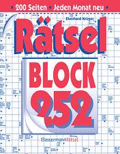 Rätselblock 252 Eberhard Krüger Hardcover Bassermann Rätsel
