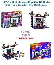 LEGO 41117-AMICI Pop Star TV Studio Set-include un bufalo mini-doll figure