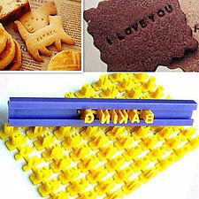 FT- Alphabet Letter Number Cookie Fondant Mould Press Stamp Embosser Cutter Prec