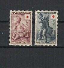 FRANCE 1955 au profit de la Croix-Rouge 2 timbres neufs /T1855