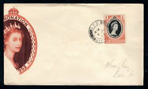 Barbados - 1953 QE2 Coronation Illustrated First Day Cover