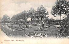 POSTCARD    LONDON   FINSBURY  PARK   The  Garden