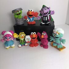 "Sesame Street Lot of (8) Different PVC Figures 3"" Cake Topper"