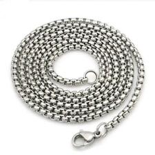 Men's Fashion Stainless Steel Silver Box Link Chain Jewelry Necklace Pop ~