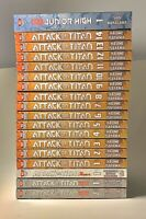 Attack on Titan Manga Lot 18 Book Collection VOL 1-14 & 4 More