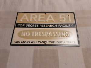 Repro Area 51 Metal Sign