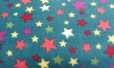 25 cm Polarfleece Bunte Sterne Stars Auf Gelb Kinderstoff