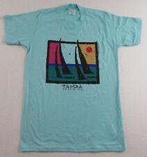 NOS Vintage '80's TAMPA BAY Florida Sailboats Sailing Vacation T Shirt Size M