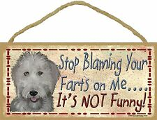 "Labradoodle Stop Blaming Your Farts On Me It's Not Funny Dog Sign Plaque 5""x10"""