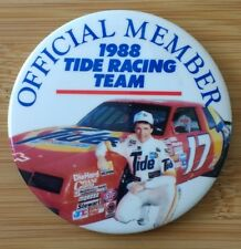 Vtg 1988 DARRELL WALTRIP TIDE RACING TEAM Official Member Pinback Button NASCAR