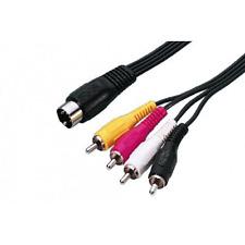 Câble 1 DIN 5 Broches 180° Male vers 4 RCA Mâle  Long 1,20 Métre