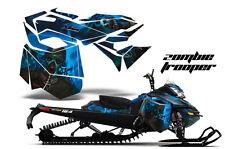 AMR Racing Sled Wrap Ski Doo Rev XM Snowmobile Graphics Kit 2013-2016 ZOMBIE BLU