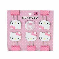 New Hello Kitty Face Shape Double Clip Set Japan