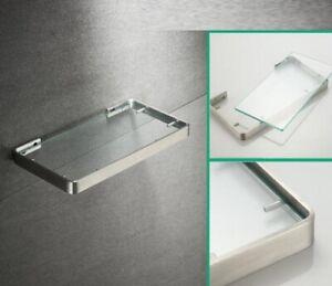 Bathroom Shower Shelf Glass Basket Storage Racks Stainless steel Wall mount New