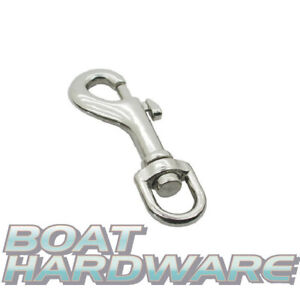 Swivel Eye Bolt Clip Snap Hook Luggage Straps Leads Keychain 316 Stainless Steel
