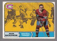 [59805] 1968-1969 TOPPS HOCKEY CARD #60 RALPH BACKSTROM MONTREAL CANADIANS