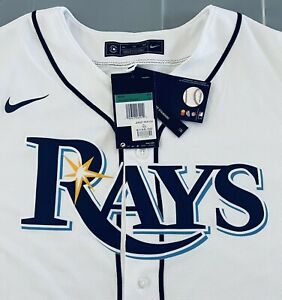 NEW TAMPA BAY RAYS NIKE MENS WHITE JERSEY XL WITH ALL TAGS REGULAR $135.00 OR 2X