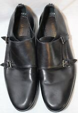 Roberto Cavalli Black Leather Flat Shoes w/2 Adj Straps 40 or 9 M