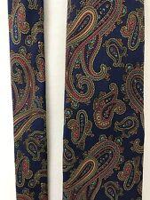 Vintage St. Simons Island Silk Necktie Blue Red Yellow Paisley USA