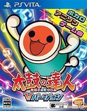 Used PS Vita Taiko Drum Master V Version SEGA  SONY PLAYSTATION JAPANESE IMPORT