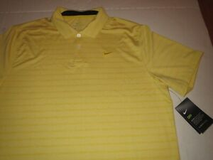 Men's Nike Dri-Fit Yellow Golf Polo Shirt XL MSRP $65 **NEW**