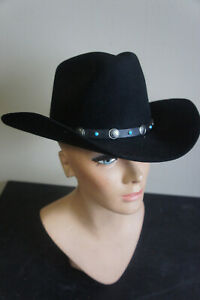 Unused Vintage Stetson 4X Beaver Turquoise Bead XXXX Western  Hat Cowboy 7-3/8