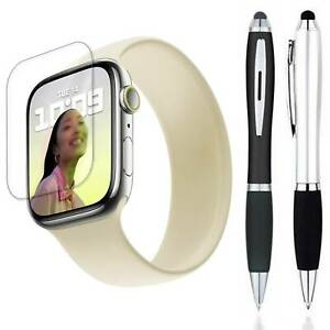 Stylus + Clear Screen Protector Guard Cover For Apple Watch Series 7 (41/45 mm)
