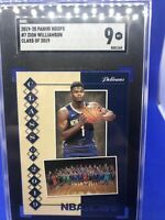 2019 Panini Hoops Zion Williamson Rookie Class Of 2019 Sgc 9 #mint