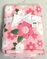 Soft Baby Gear Floral Pink Flowers Girl Baby Blanket Plush
