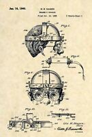 Official Welder Goggles US Patent Art Print- Vintage Steampunk Welding Mask -411